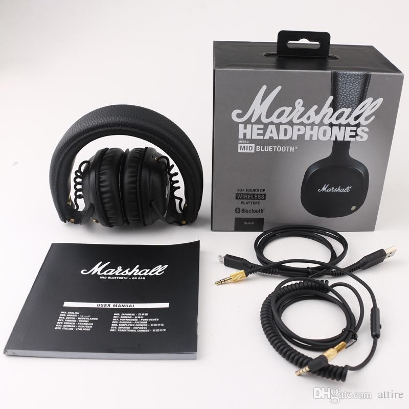 Marshall Mid Casque Audio Bluetooth Noir Shopee Malaysia