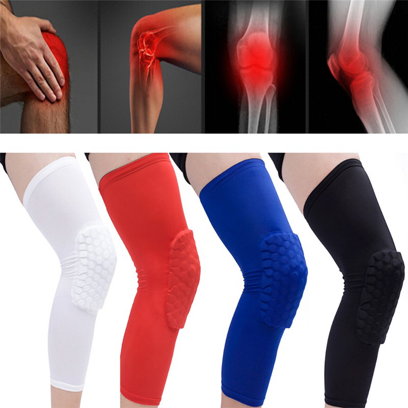 ProductImage. ProductImage. Honeycomb Pad Crashproof Antislip Basketball Leg Knee Long Sleeve Protector Gear