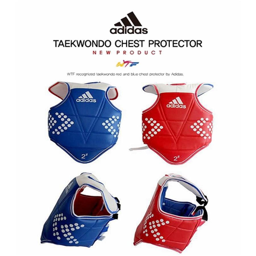 ADIDAS Korea TAEKWONDO TKD Chest One Red+One Blue SET Body WTF protector gear