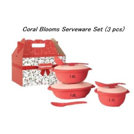 {Ready Stock} Full Set Tupperware Coral Blooms Serveware Serving Set