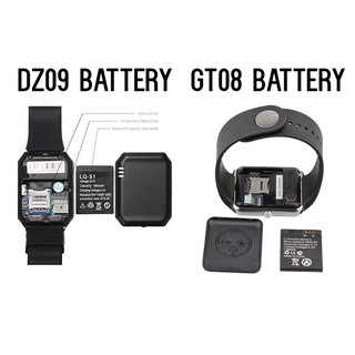 a648b0701 GT08 DZ09 Smart Watch Battery and Strap | Shopee Malaysia