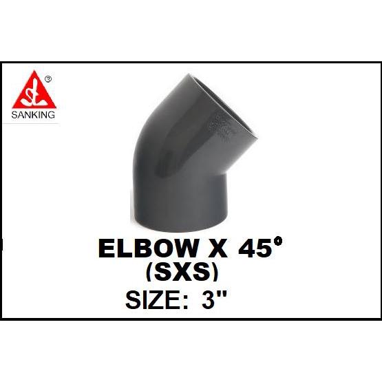 2-1//2 SxS Sch 40 PVC 90 Ell