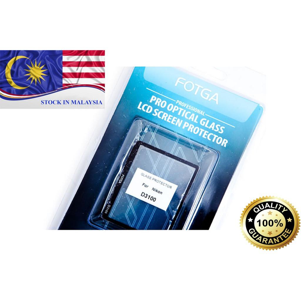Fotga 0.5mm Premium LCD Screen Panel Protector Glass For Nikon D3100 (Ready Stock In Malaysia)