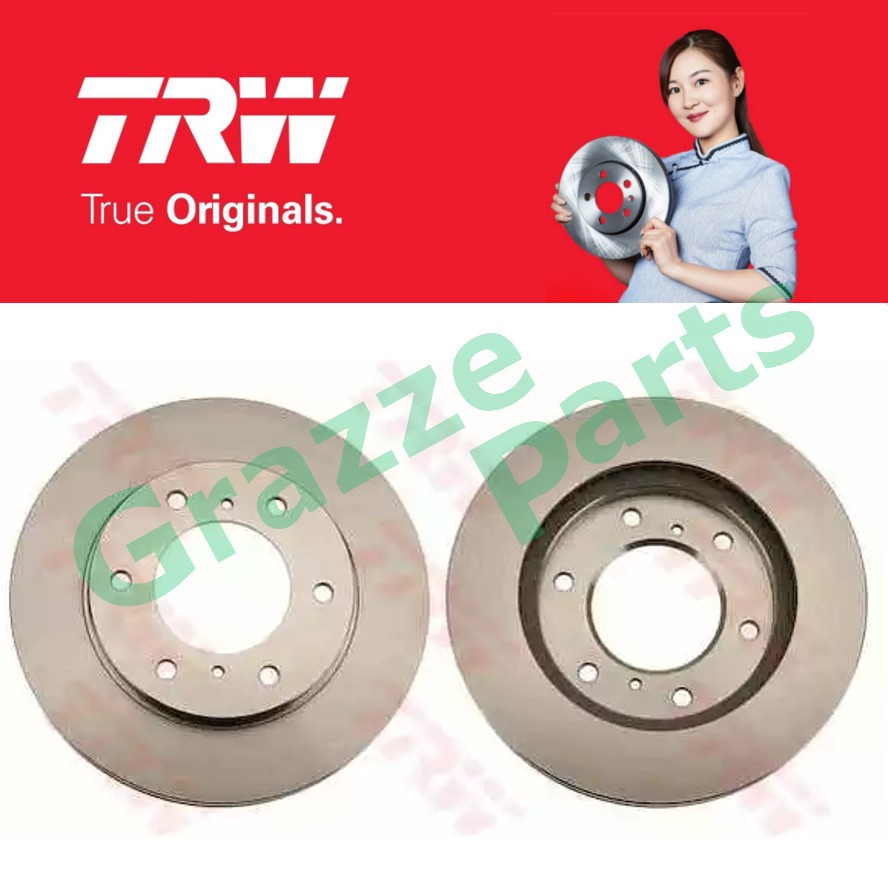 (2 pcs) TRW Disc Brake Rotor Front for DF4920 Mitsubishi Triton 4WD 2.5 KB4T Pajero Sport 2.5 KG4W KH4W (294mm)