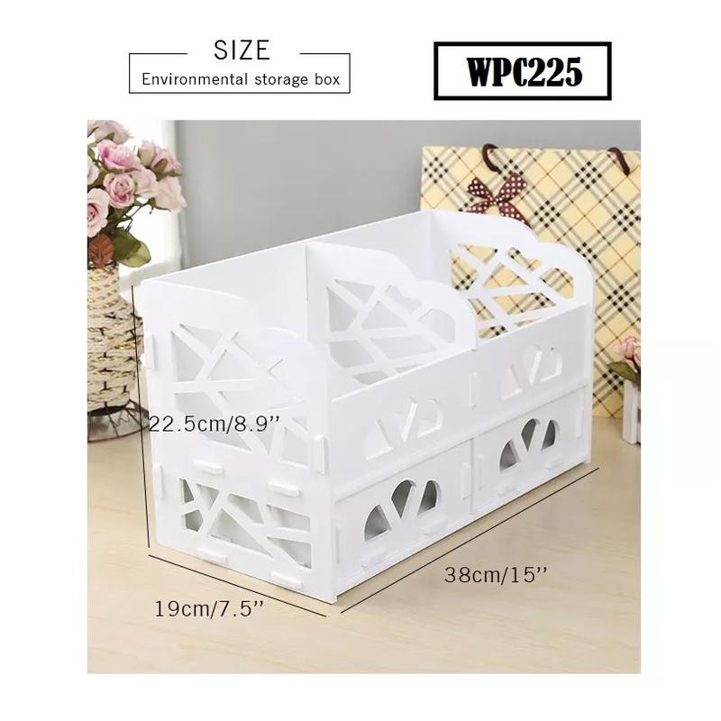 [ READY STOCK ]  Waterproof Cosmetic Makeup Storage Box Drawer Rack Case Holder Box Jualan Murah Furniture Perabut Almari