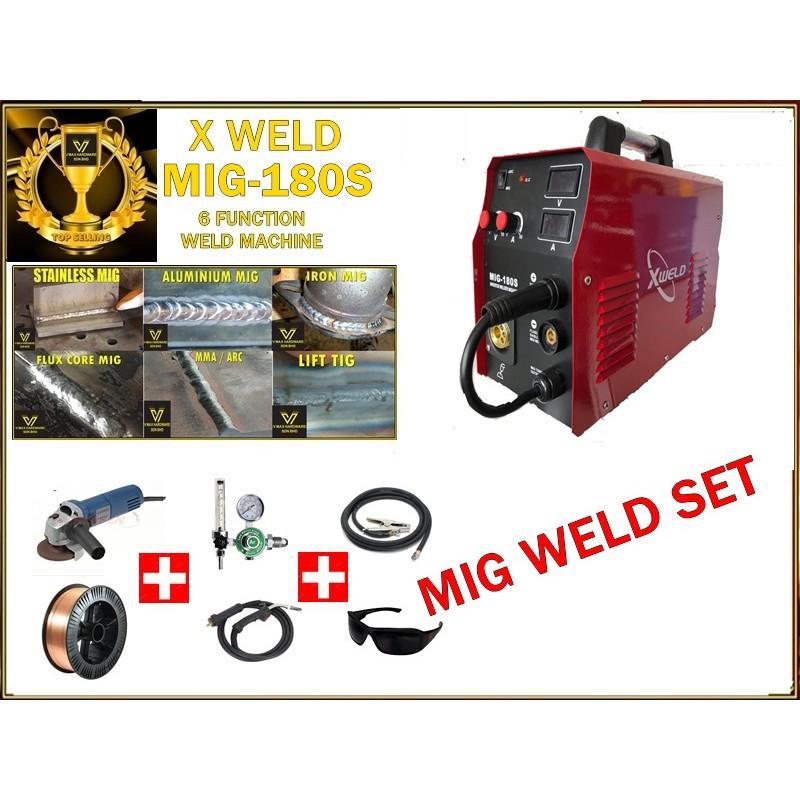 X-WELD mig 180 welding machine set *free grinder*