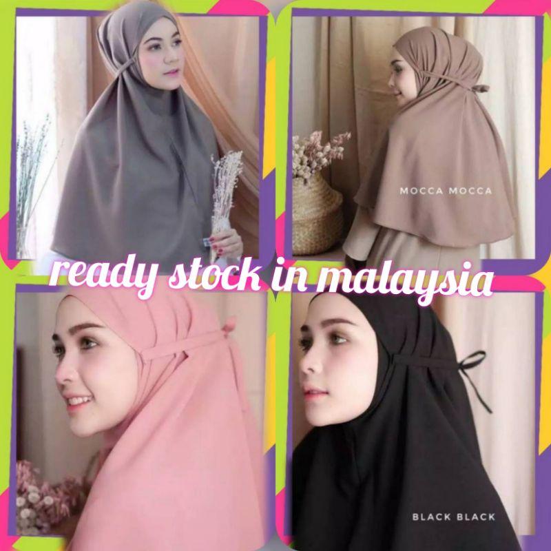 ready stock HIJAB Tudung instan bergo maryam(buy 10 tudung free 1 inner random colour)