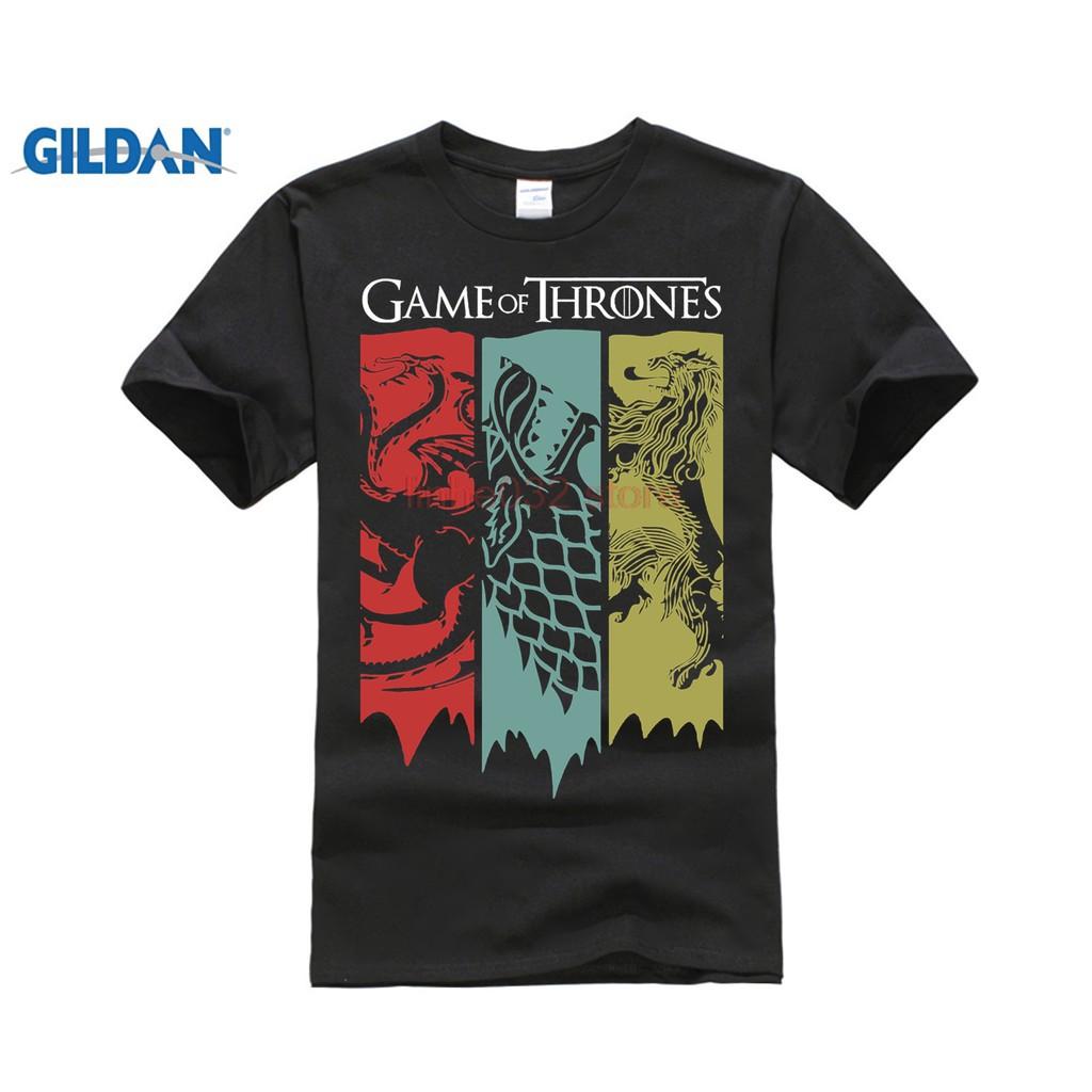 e27ec3615 GILDAN-Fashion tee Game Of Thrones T-Shirt Tv Series Targaryen Khaleesi  Fire Blood Mens Mens Red | Shopee Malaysia