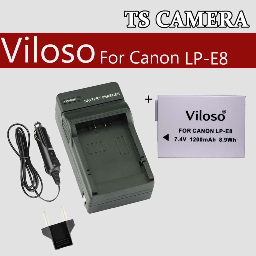 CANON LP-E8 REPLACEMENT BATTERY / CANON LPE8 BATTERY / CANON LPE8 CHARGER / BATTERY CHARGER CANON LPE8