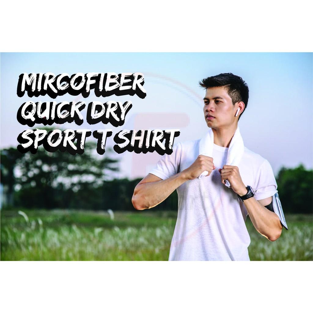 (ReadyStock)YIFU Quick Dry Unisex Round Neck Short Sleeve T-Shirt (MircoFibe Eyelet)