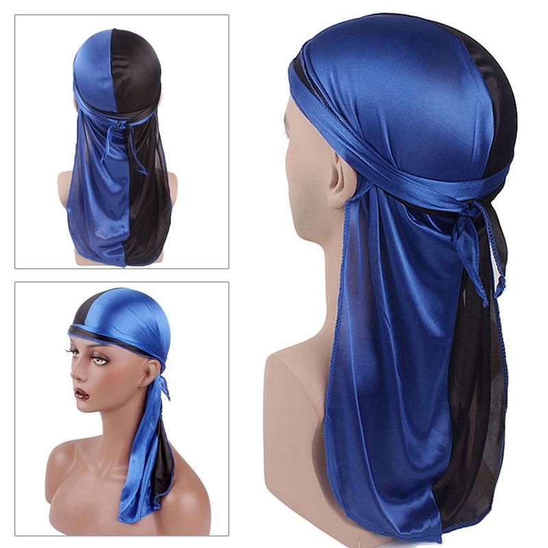 Satin Breathable Bandana Hat Silky Durag Do Doo Du Rag Long Tail HeadwrapU F/_X