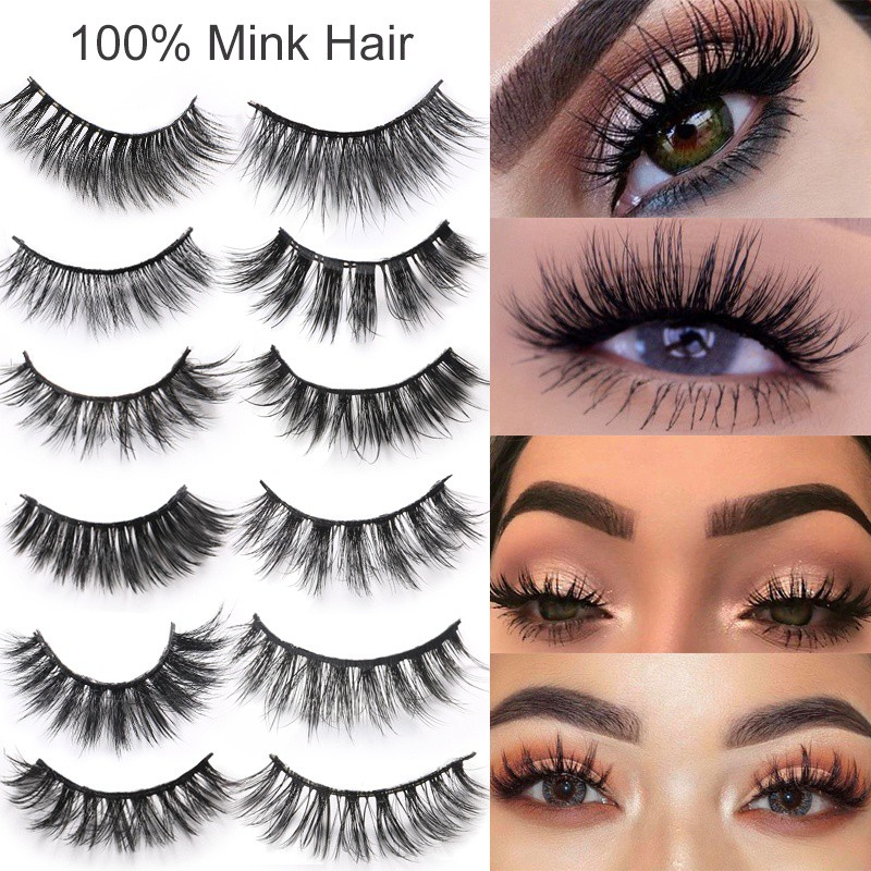 188b06b6554 LPATTERN 3D false eyelashes pure handmade eyelashes nature | Shopee Malaysia