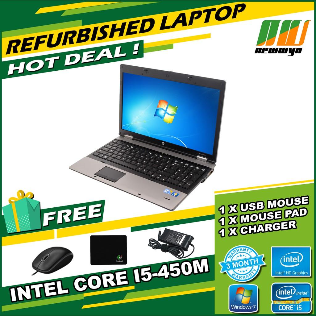 HP Probook 6550b/Core i5-450M 2 40GHz/250GB HDD/4GB RAM/WINDOW 7  [Refurbished]