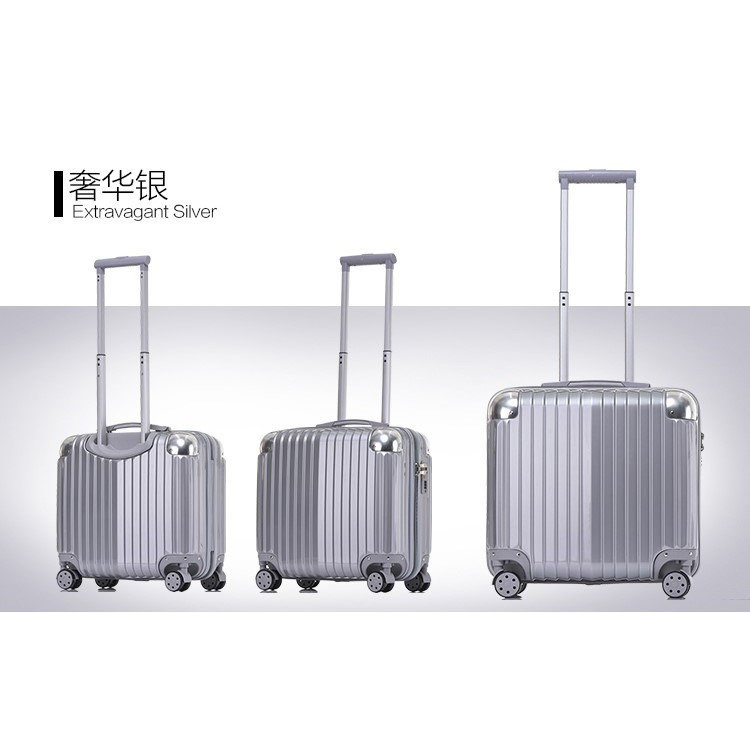 [Ready Stock]Advanced 18 inch Travel Luggage Suitcase Silent Wheel 360 Rotation Smooth FREE Luggage protector & Sticker