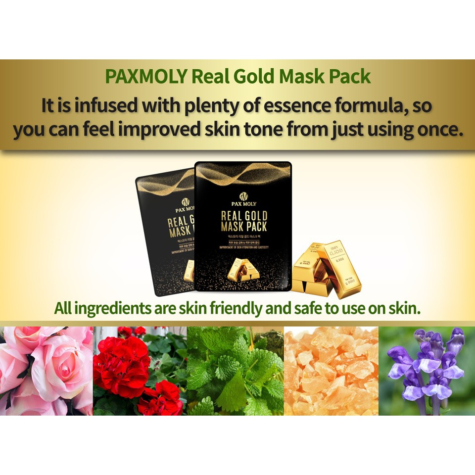 PAX MOLY Real Gold Mask Pack (25ml)
