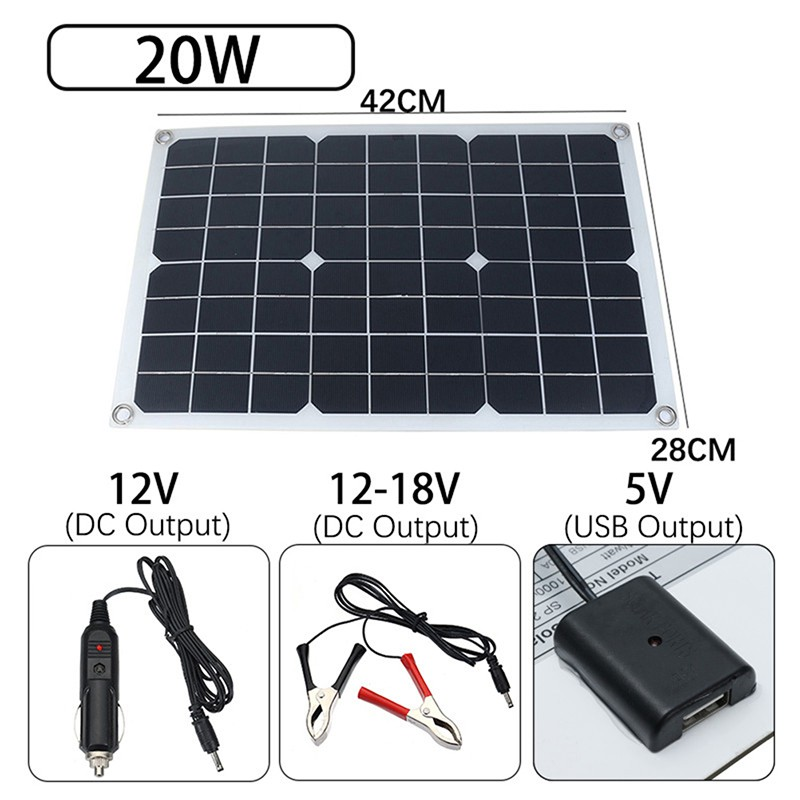 Demo Board Accessories Computer & Office Good Quality 18v 40w Auto Solar Charger Umbrella 15 8in Large Daylighting Area Solar Umbrella Battery Great Varieties