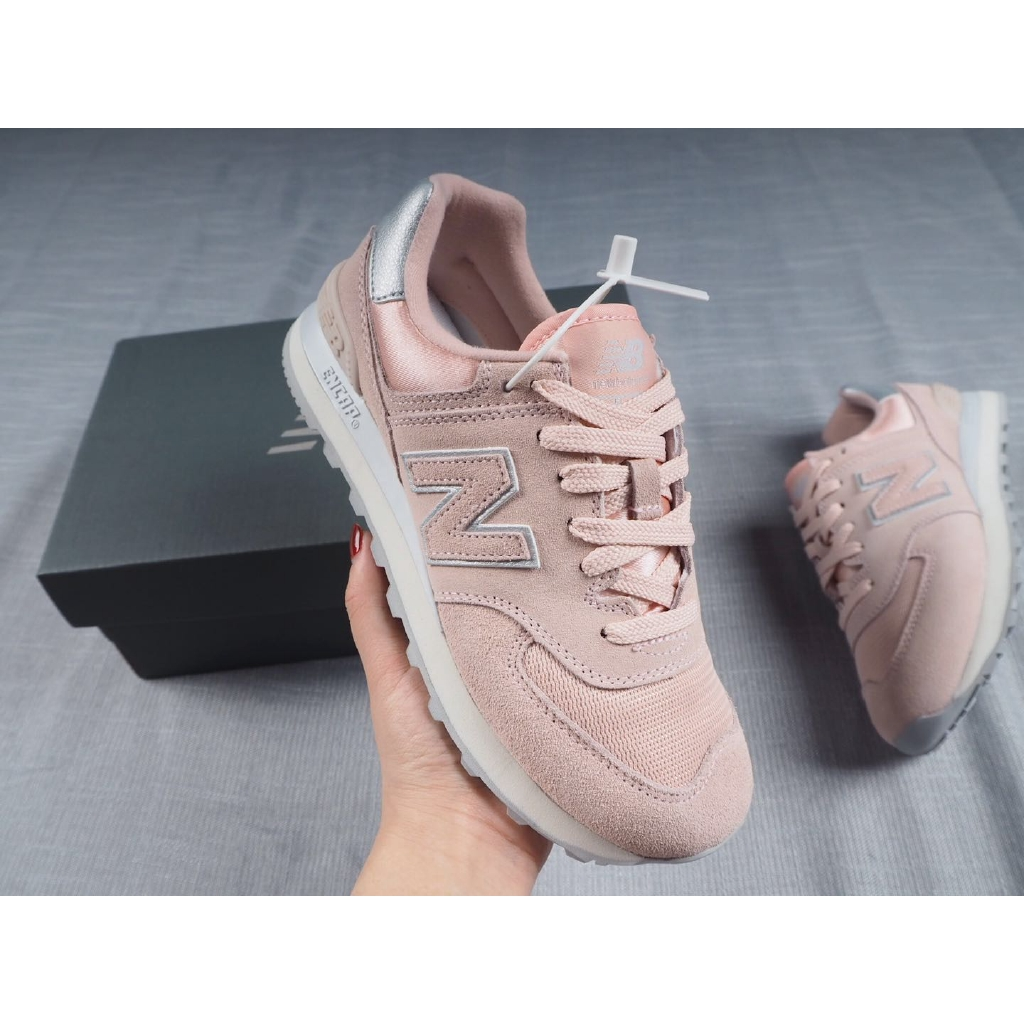 Ready Stock Original Women New Balance 574 Casual Walking Running Sport Shoes Breathable Sneaker Increase Pad