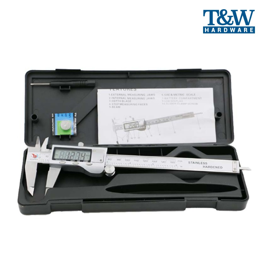 Digital Electronic Gauge Stainless Steel Vernier Caliper Micrometer 150mm//6inch