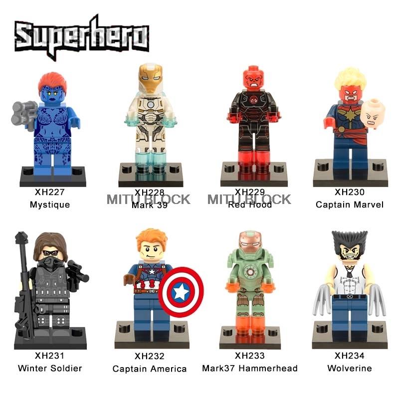 Captain Marvel superhero movie mini figure fits lego...New Sealed