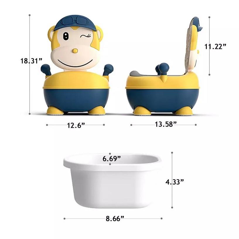 [ READY STOCK ]  Cute Cartoon Baby Toilet Car Potty Child Pot Training Girl Boy Kid Chair Jualan Murah Seat Brush Holder