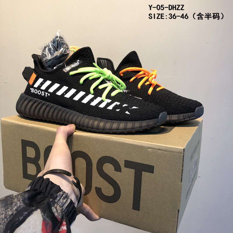 quality design 92b62 fe41b TH*Off White x Adidas Yeezy Boost 350 V2 men's and women's breathable  running sh