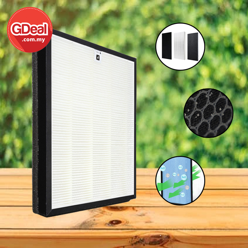 GDeal Air Micro Nano Level HEPA High Energy Coconut Activated Carbon Layer Purifier Filter