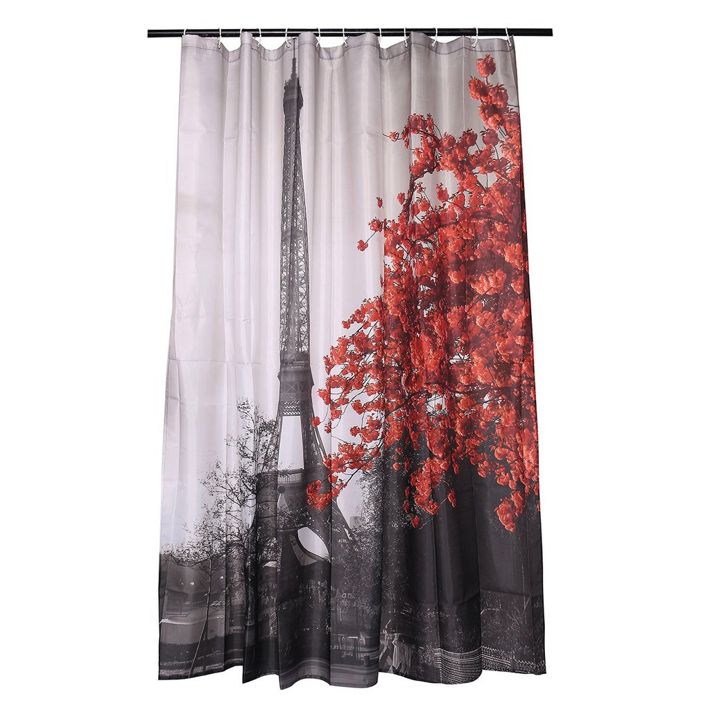 Wf Aestheticism Retro Paris Maple Tower Bathroom Fabric Shower Curtain W 12 Hoo