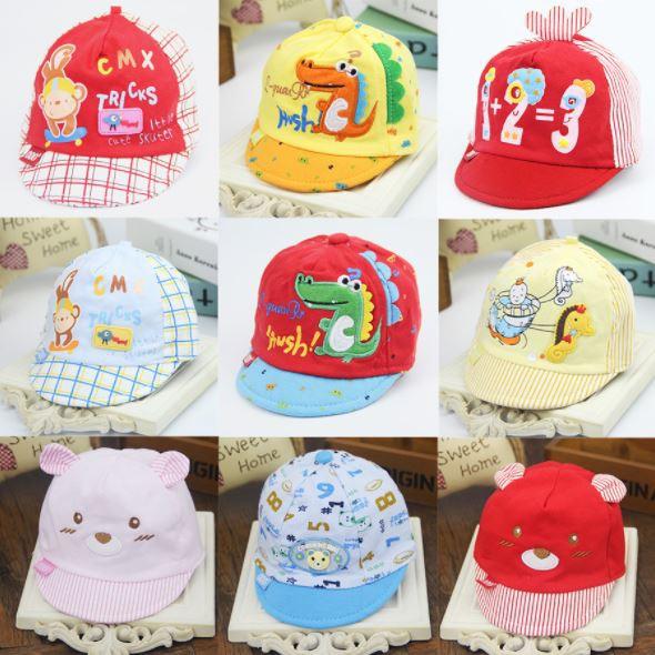 หมวกเด็กอ่อน หมวกเด็ก ผ้านิ่ม ยางยืด (0-6เ