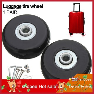 f0384252b6b3 LYY_2 Sets Luggage Suitcase Replacement Wheels OD 50mm Axles Washers ...