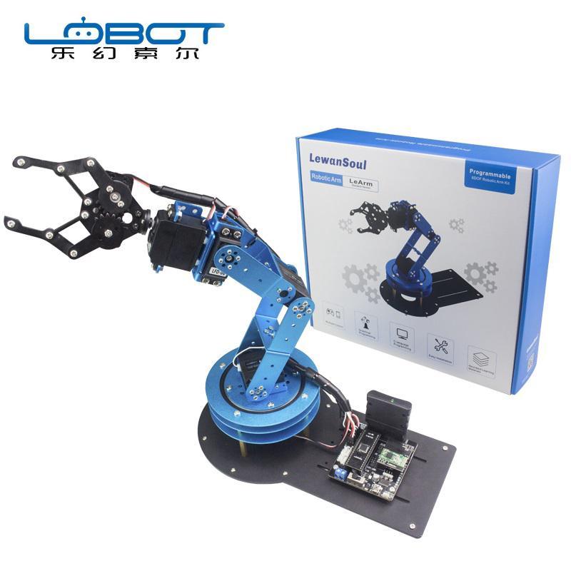 LOBOT LeArm 6DOF Smart RC Robot Arm Kit Open Source With Servos