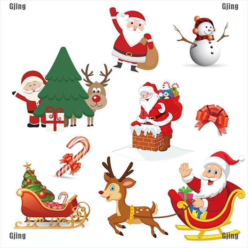 gongjing3 Christmas Patch Washable Heat Transfer Ironing Patch Clothing Santa Claus Patch