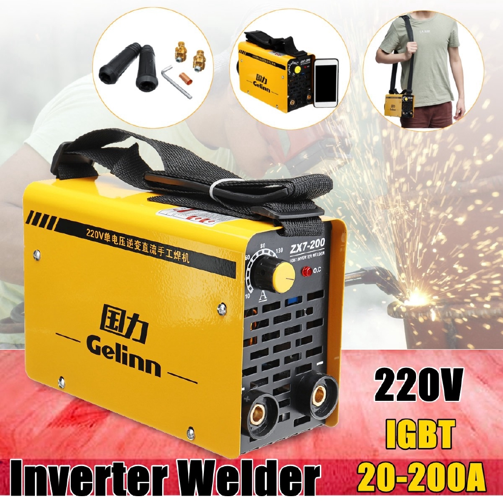 20 200amp Copper Welding Inverter Machine Mma Portable Welder Zx7 Pin Igbt Circuit Of Equipment China Arc Welders For Sale On 200 Dc Uk Shopee Malaysia