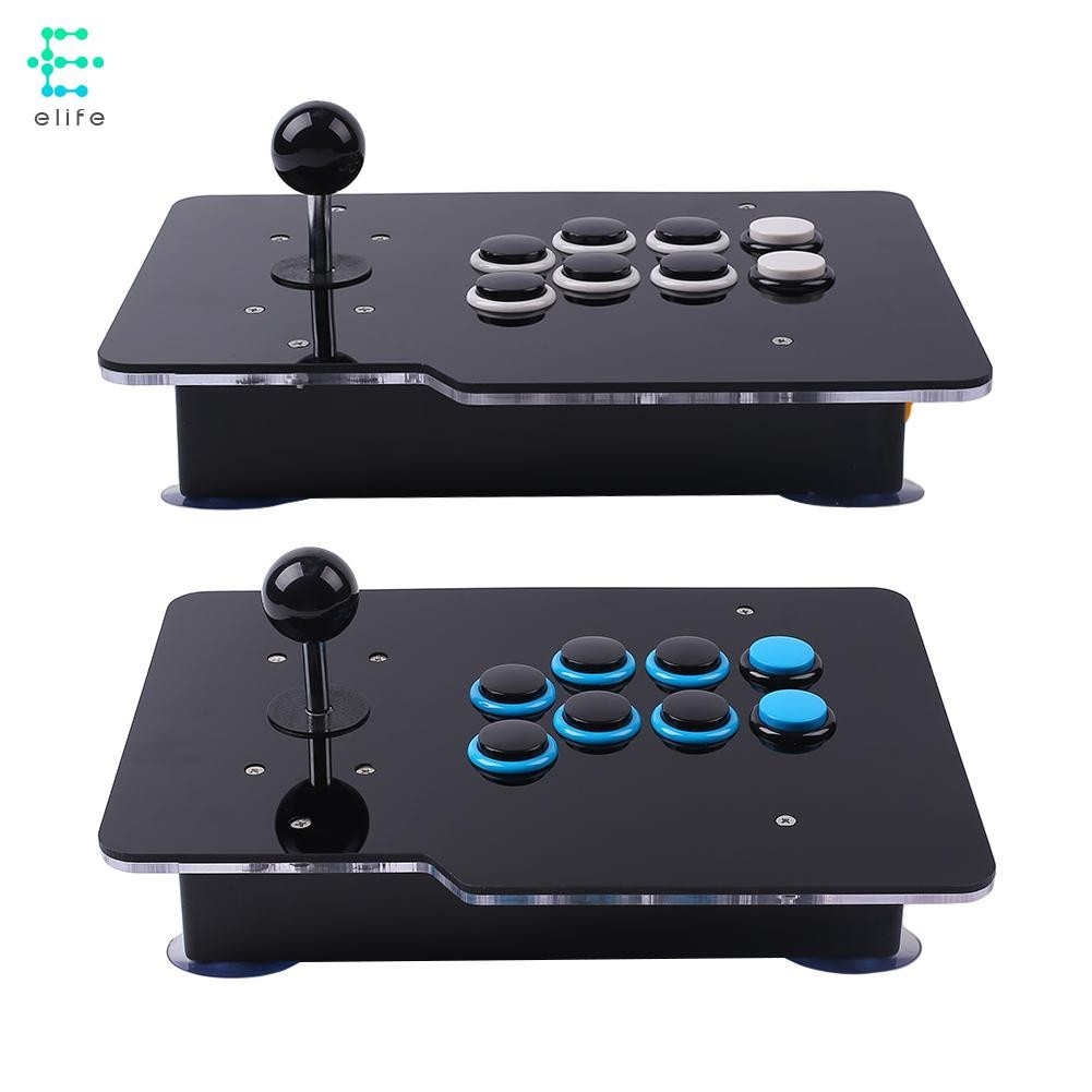 El Transparent Clear Acrylic Arcade Video Game Usb 8 Directional Joystick Double Pad Transparant Wellcome Shopee Malaysia