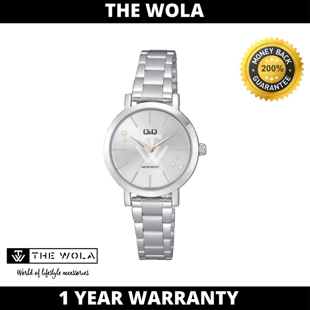 Q&Q Japan by Citizen Ladies Stainless Steel Analogue Watch Q893