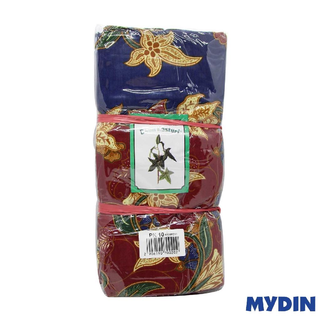 Assorted Batik Sarung Daun Kasturi KKHHD11 (114cm x 190cm x 10pcs)