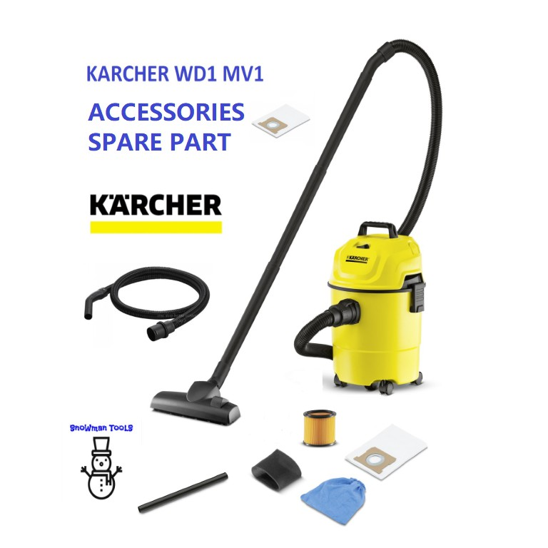 KARCHER WD1 MV1 WET AND DRY VACUUM CLEANER AND BLOWER ACCESSORIES,SPARE PART,HOSE,FILTER,TUBE
