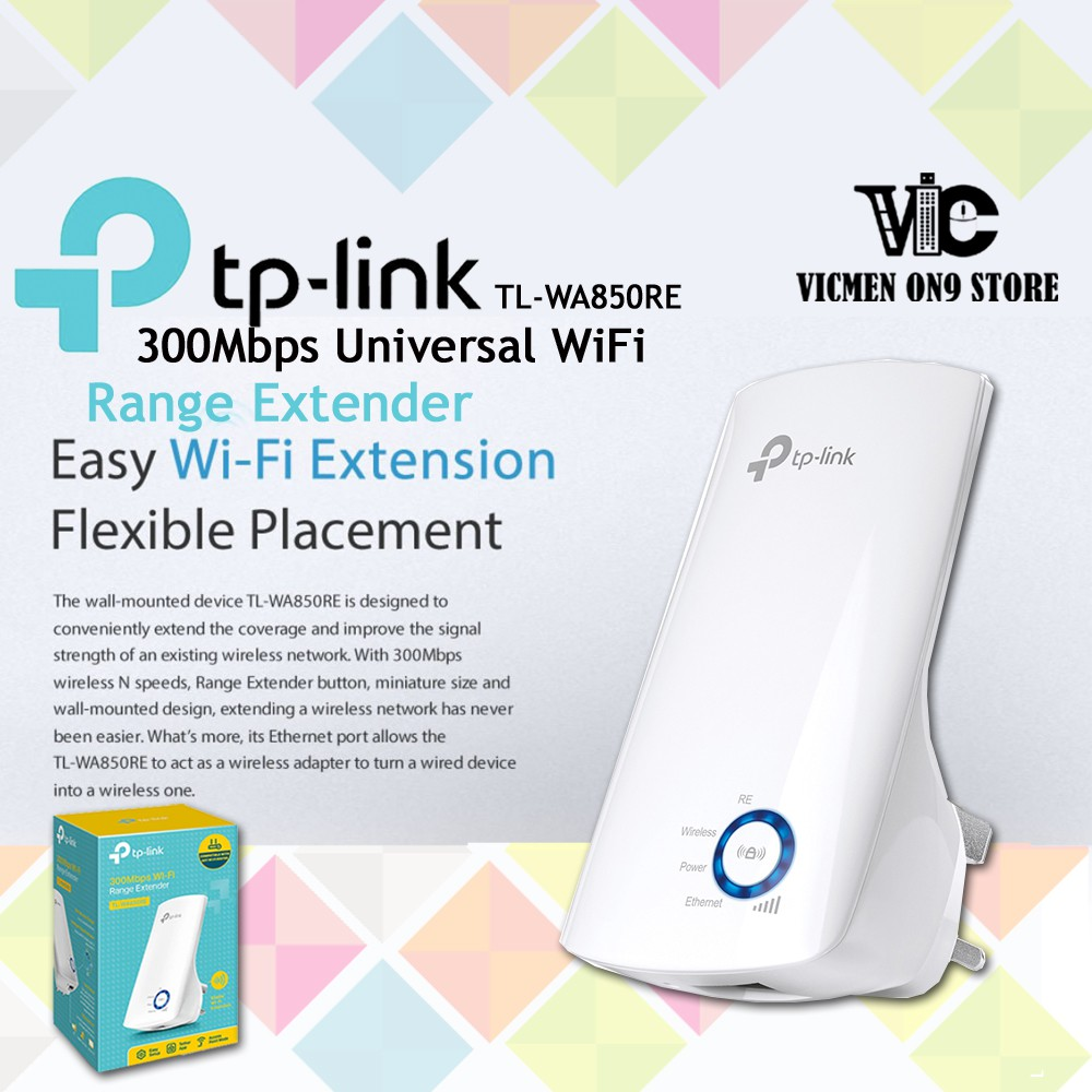 TP-LINK TL-WA850RE 300Mbps Repeater WiFi Extender with LAN