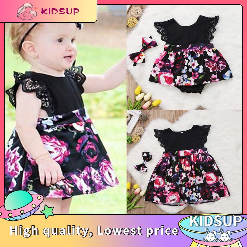 Kid Baby Girls Sister Matching Clothes Flroal Lace Romper Tutu Dress Outfits Set