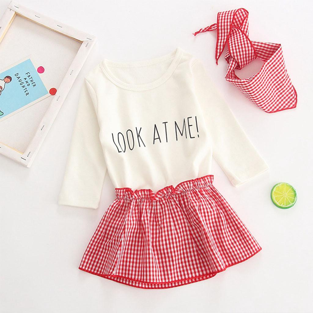 16fbf62e2c235 👒Newborn Infant Baby Girls Letter Romper Tops+Tutu Skirts Outfits ...