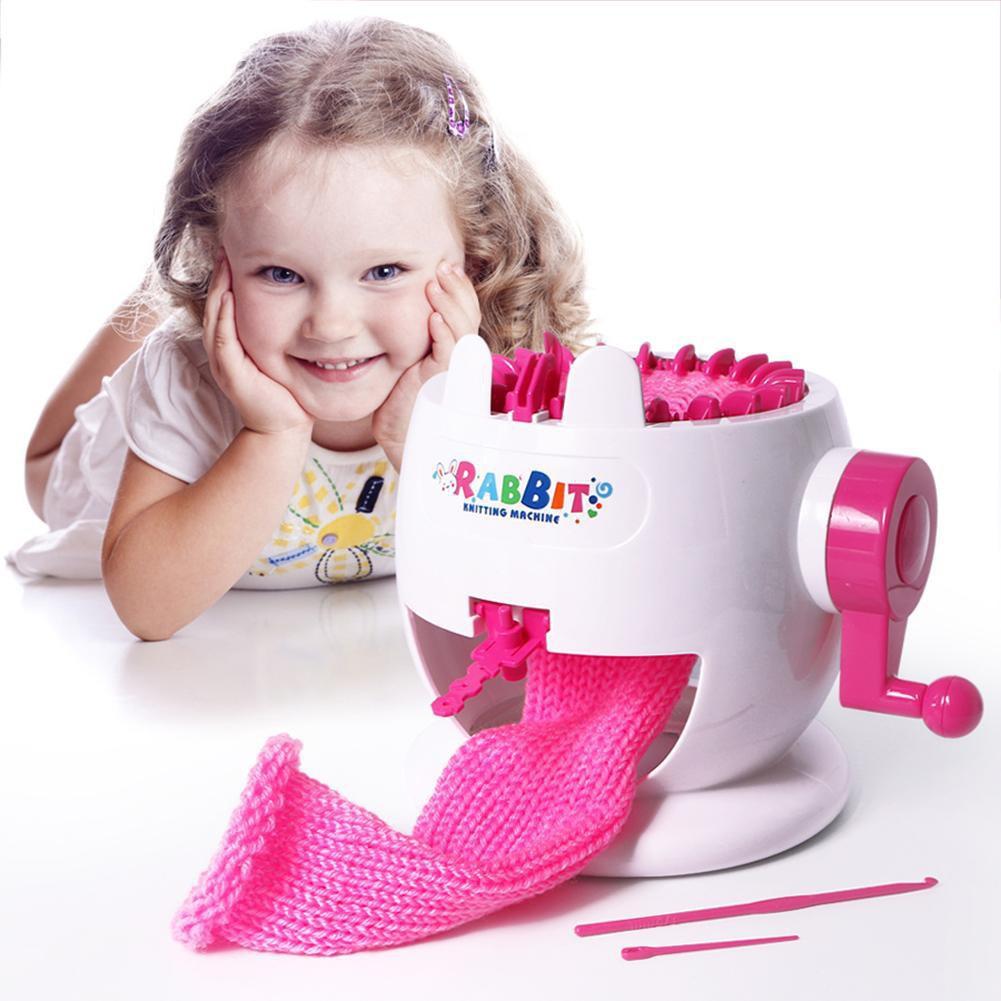 13bebf243ff Rabbit Knitting Machine Kids Funny Weaving Loom Scarf Hat Socks Knitter Toy