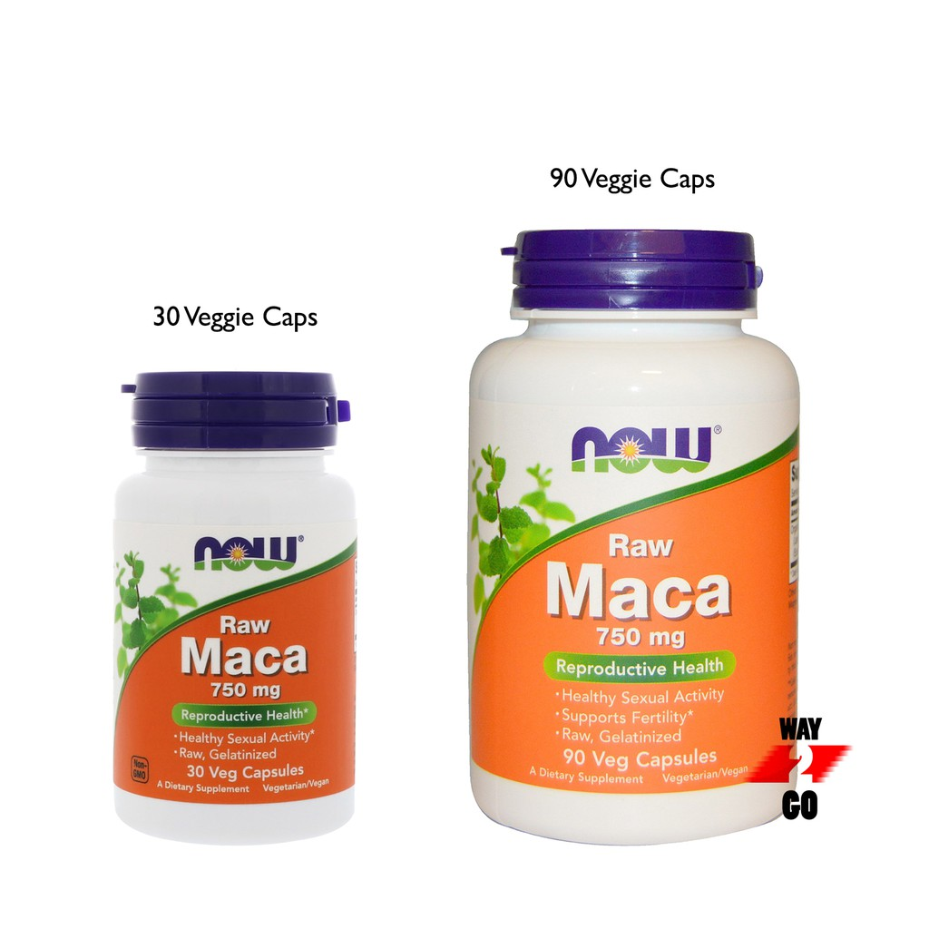 ✅ READY STOCK ✅ Now Foods, Raw Maca, 750 mg, 30 or 90 Veg Capsules