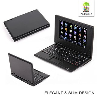 7-Inch Laptop Notebook PC (4.1 Jellybean Mini Android, Wi-Fi), Black