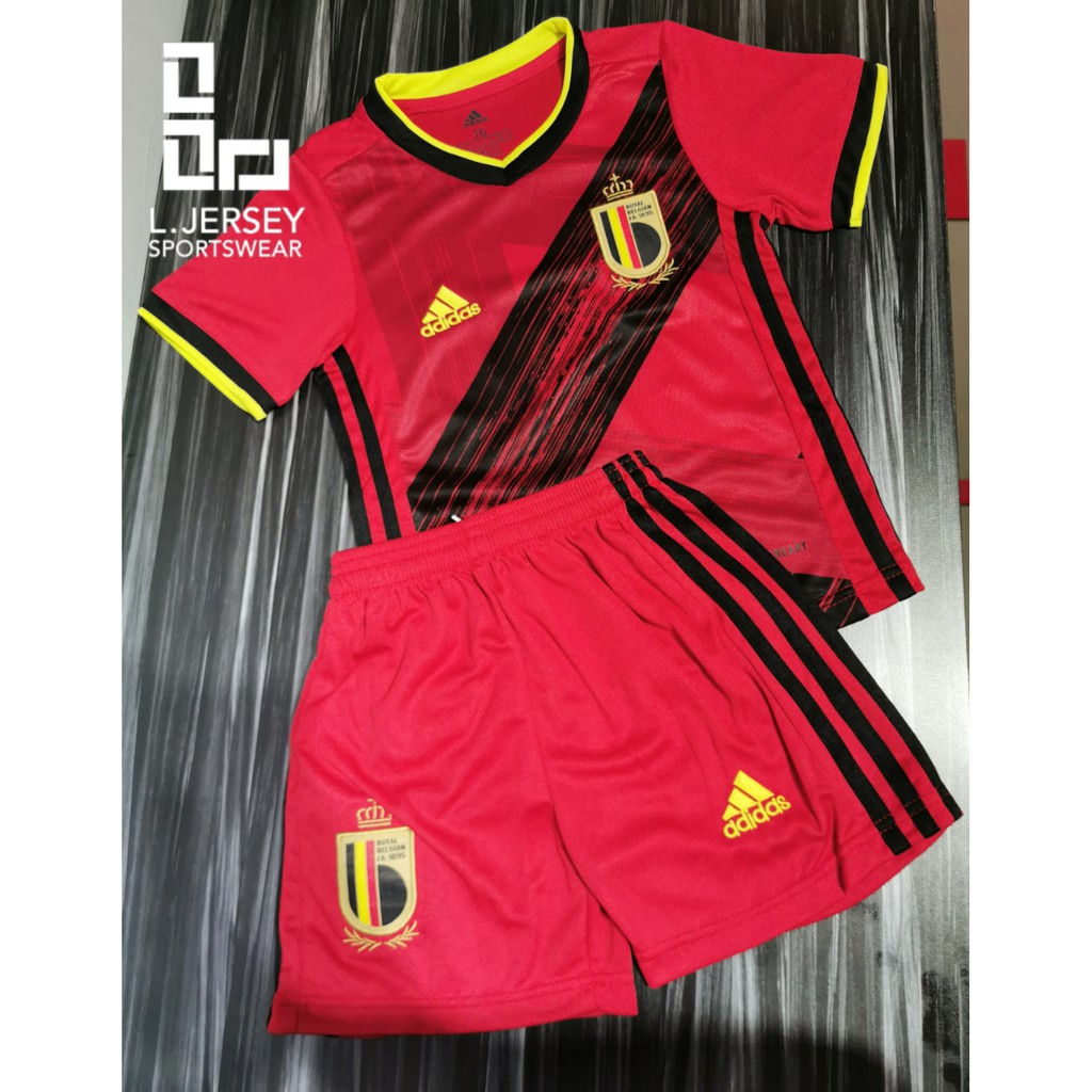 Belgium Kid Home Euro Cup Season 20/21 CLIMALITE Fans Jersey