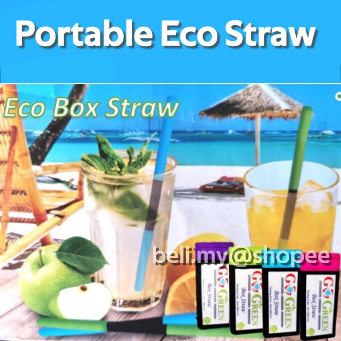 Go Green Eco Straw Reuseable Portable Straw