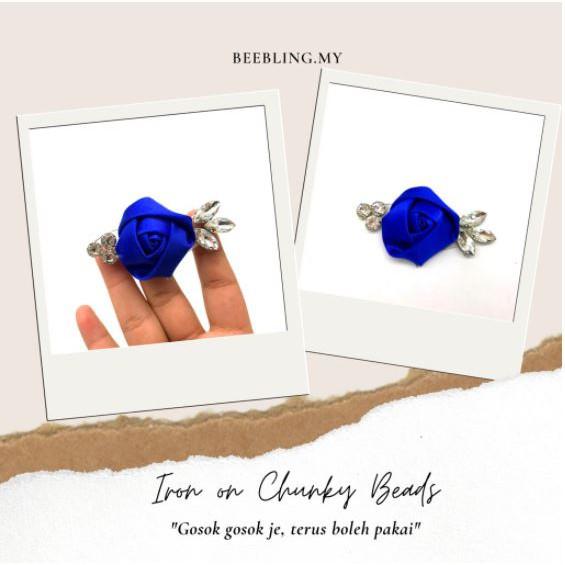 BeeBlinG Iron On Chunky Beads Mix Bunga 3D (D11) RM 2.70 / PCS