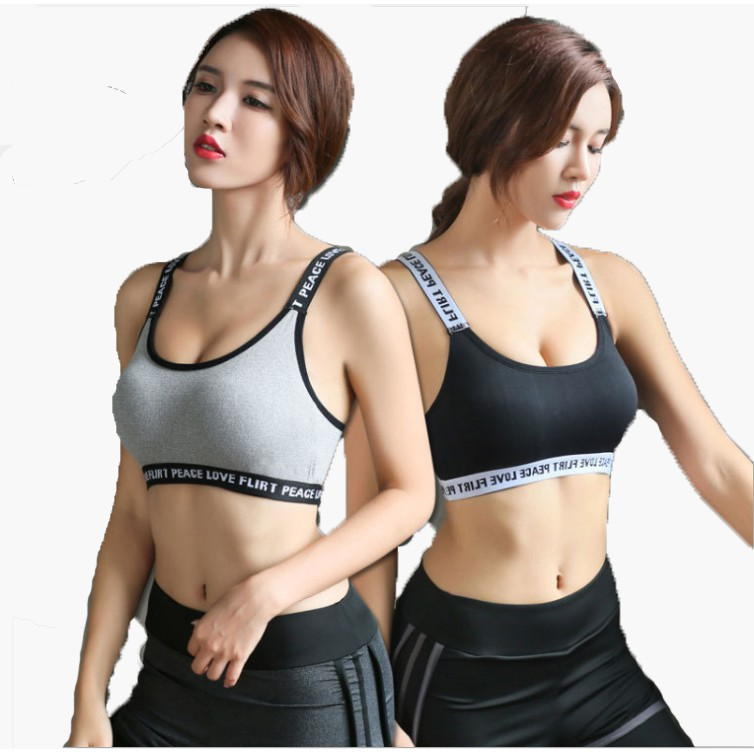 748562918beaf High Quality Breathable Anti-Shock Yoga Zumba Gym Sport Bra