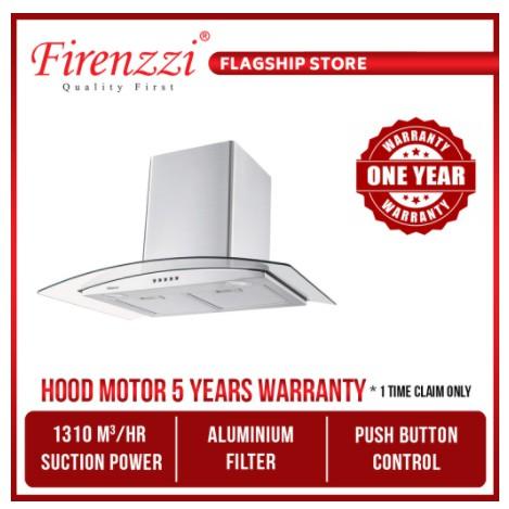 Firenzzi Italy Stainless Steel 3 Speeds Designer Chimney Cooker Hood Fch-6023 1310M3/Hr