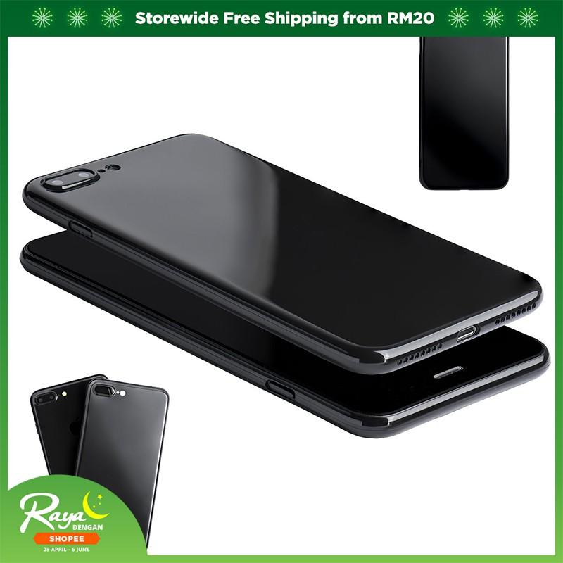 newest f5078 f4c37 iPhone 8 7 6 6s Plus Ultra Thin Jet Black Cover Flexible Glossy Finish TPU  Case
