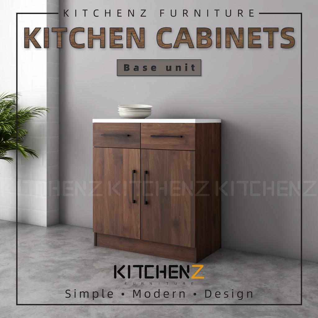 KitchenZ Ventura Series Kitchen Cabinets Base Unit  / Kitchen Storage - HMZ-KBC-MFC9080-WN