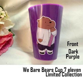 Limited Edition We Bare Bears Cup 7 Eleven / Nivea Doraemon Water Thumbler With Figurine